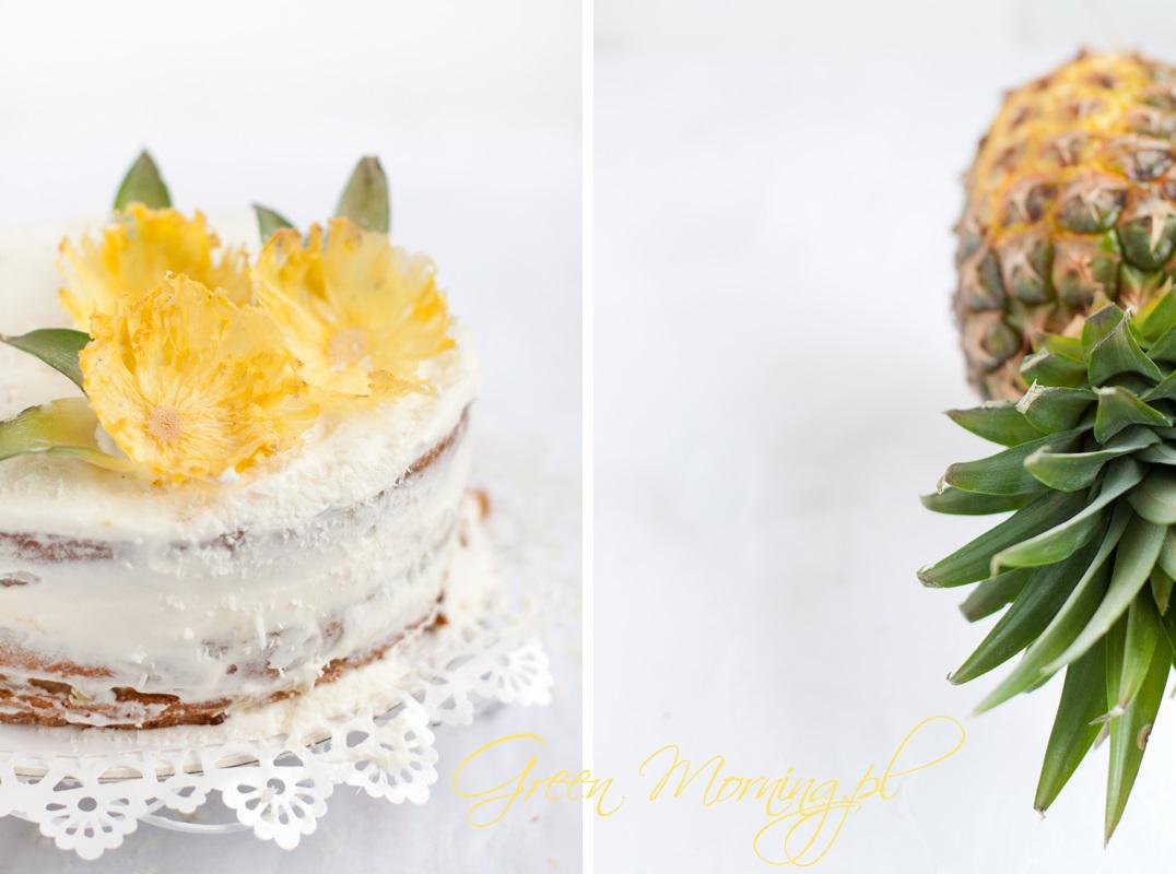 wegański tort ananasowy