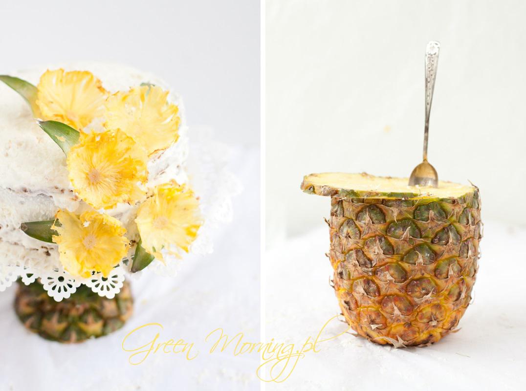 kwiaty z pieczonego ananasa