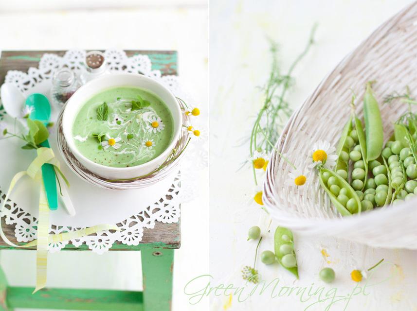 zupa groszkowa z miętą
